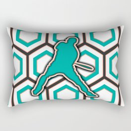 Baseball Batter Pattern Design Rectangular Pillow