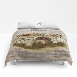 french country forest magical fairytale nature woodland magic mushroom Comforters