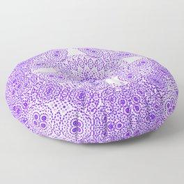 pointillist kaleidoscope in purple Floor Pillow