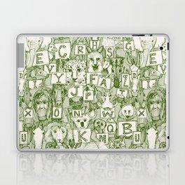 animal ABC green ivory Laptop & iPad Skin