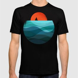 Deep blue ocean T-shirt