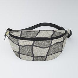 Swirly Tweed Check Design - Beige Fanny Pack