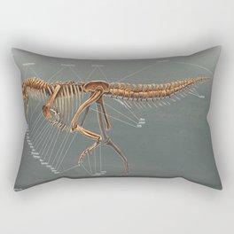 Carnotaurus Skeleton Study Rectangular Pillow