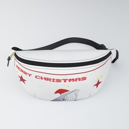 Merry Christmas Season greetings for whale lovers Fanny Pack