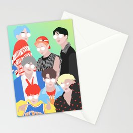 BTS DNA Group Portrait Stationery Cards