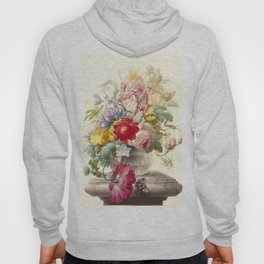 """Herman Henstenburgh """"Flowers in a Glass Vase with a Butterfly"""" Hoody"""