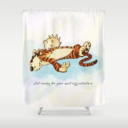 Calvin Rests for Big Adventure Shower Curtain