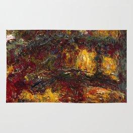 1920-Claude Monet-The Japanese Footbridge, Giverny-89 x 94 Rug
