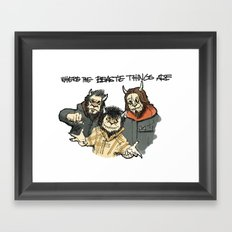 Where The Beastie Things Are Framed Art Print