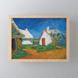 Three White Cottages in Saintes-Maries by Vincent van Gogh Framed Mini Art Print