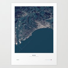 Nice - City Map Art Print