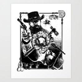 Django Kings Art Print