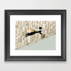 The Morning Commute Framed Art Print