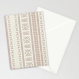 rust on bone mud cloth Stationery Cards