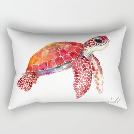 Turtle Children Animal design Red, pink Orange cute turtle Rectangular Pillow