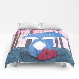 Cute Nursery Fox Flowers Design Comforters