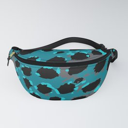 Cheetah Spots in Blues and Gray Grey Fanny Pack
