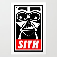 Obey Darth Vader (sith text version) - Star Wars Art Print