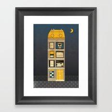Night spy Framed Art Print
