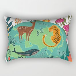 Once Destroyed Nature's Beauty Cannot Be Repurchased At Any Price Rectangular Pillow
