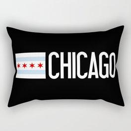 Chicago: Chicagoan Flag & Chicago Rectangular Pillow
