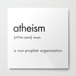 atheism definition Metal Print