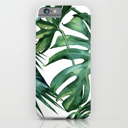 Simply Island Palm Leaves iPhone Case