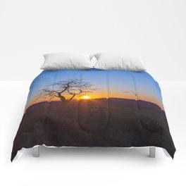 Sunset Over Buffalo Mountain Comforters