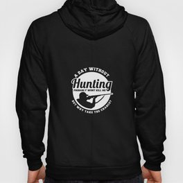 Hunting Hunter Hunting Papa Rifle Forest Hoody