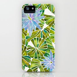 Water Lilies – Lavender & Green Palette iPhone Case