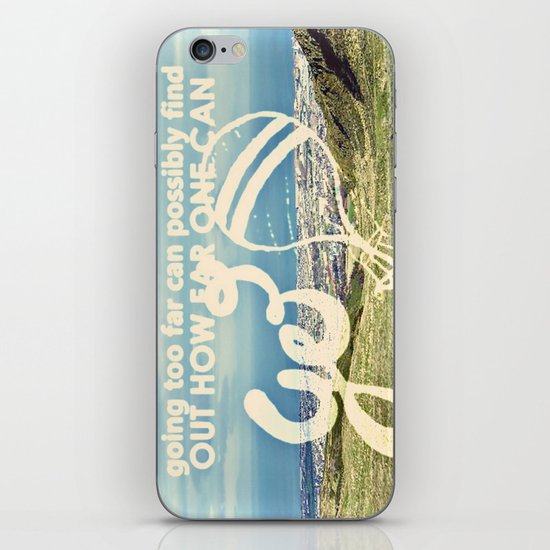 Adventure Quote, hot air balloon iPhone & iPod Skin