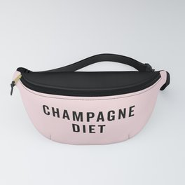 Champagne Diet Funny Quote Fanny Pack