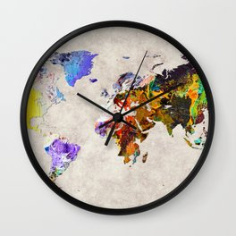World Map 54 Wall Clock
