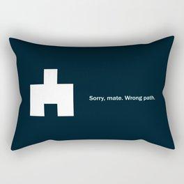 Wrong Path Rectangular Pillow