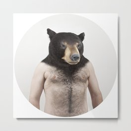 Therianthrope - Bear Metal Print