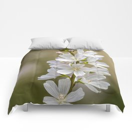Wild Hyacinth in White and Pink Comforters
