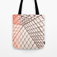 pyramid Tote Bags featuring pyramid by shannonblue