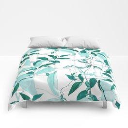 fresh green leaf pattern Comforters