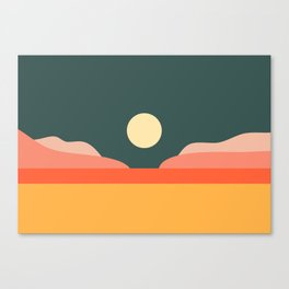 Geometric Landscape 14 Canvas Print