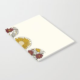 Floral Phases of the Moon Notebook