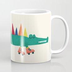 Crocodile on Roller Skates Mug