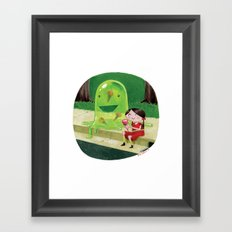 The Blob Framed Art Print