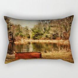 Playing at the Pond Rectangular Pillow