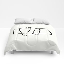 Simply Minimal - Black and white abstract Comforters