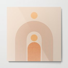 Abstraction_SUN_LINE_MOUNTAINS_POP_ART_Minimalism_027C Metal Print