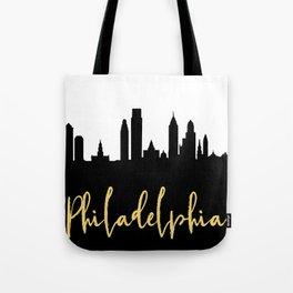 PHILADELPHIA PENNSYLVANIA DESIGNER SILHOUETTE SKYLINE ART Tote Bag