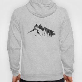 Mountain Painting | Landscape | Black and White Minimalism | By Magda Opoka Hoody