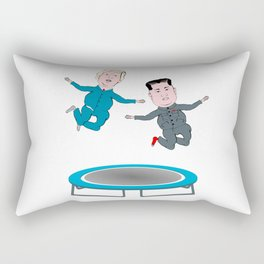 Trump and Kim Jong Un Rectangular Pillow