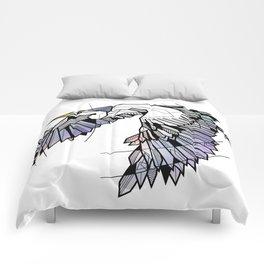 Heron Geometric Bird Comforters