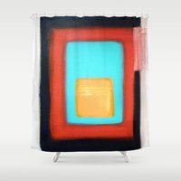 rothko Shower Curtains featuring Living Rothko by Heaven7